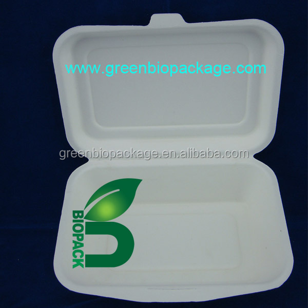 Disposable sugarcane bassage container, biodegradable food box