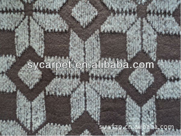 High Quality nowoven needle punched black and white carpet tiles