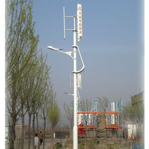 vertical axis wind-solar hybrid street light