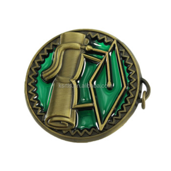 65mm zinc alloy casting antique bronze custom logo soft enamel metal sports with high quality