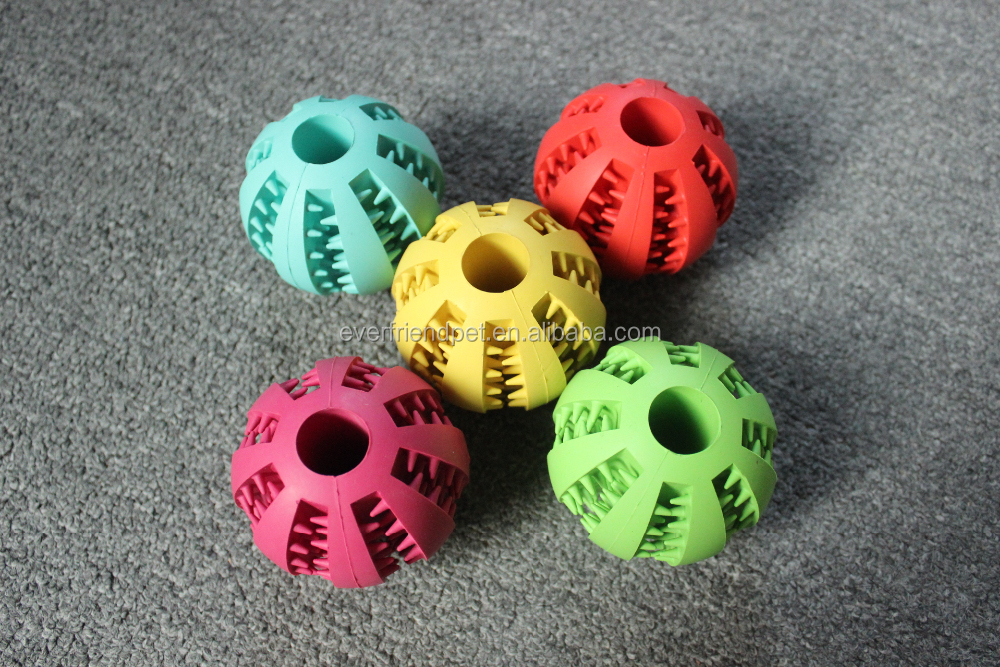 Pet Play Chew Tennis dog rubber toy Ball with Teeth Dog Toy