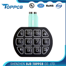 Silicone Rubber Keypad 3M Metal Dome Tactile Led Membrane Switch