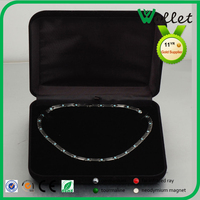 High End Classic Black Custom Velvet Bracelet Box for Jewelry
