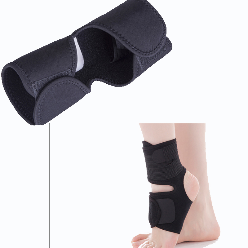 Factory price hot sale black Adjustable Ankle Brace protect ankle, ankle pain relief