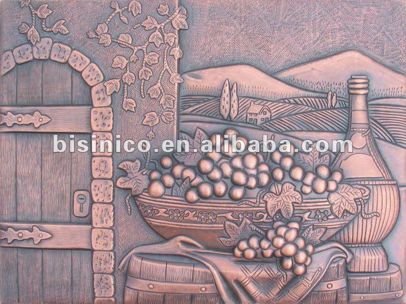 Rame murales uva rame murales mobile pannelli rame for Murales per cucina