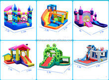 Backyard Inflatable Castle with Slide, Commercial Inflatable Jump House with Basketball Hoop for sale