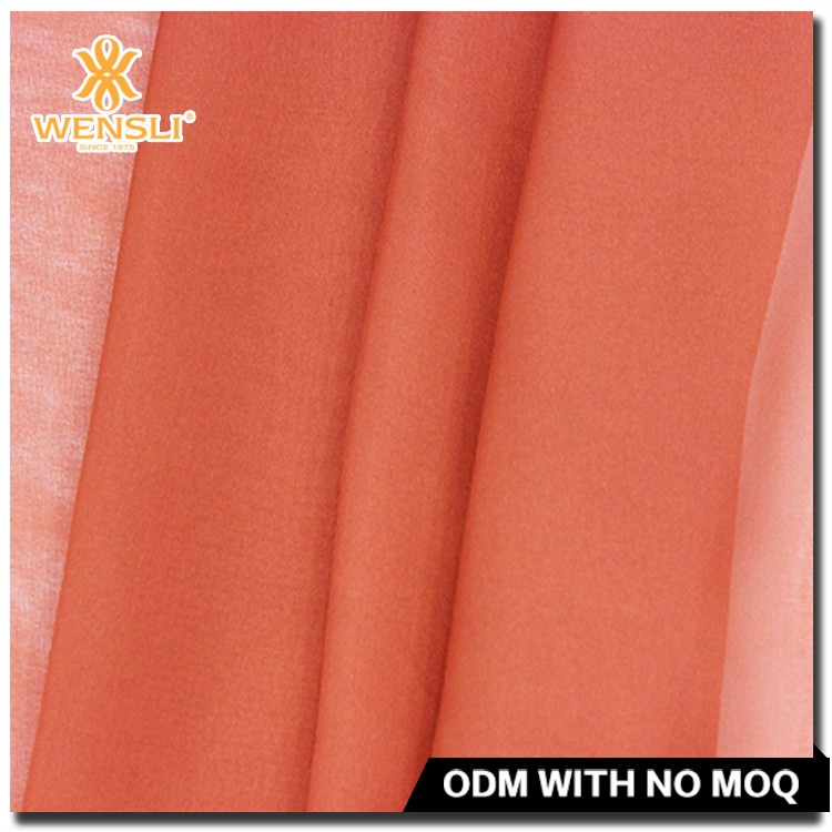 8mm Orange Hign Quality Plain Silk Chiffon Fabric Prices