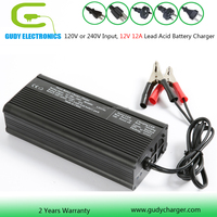 12V 12A Lead acid battery charger 3 stage mircroprocessor controlled charging