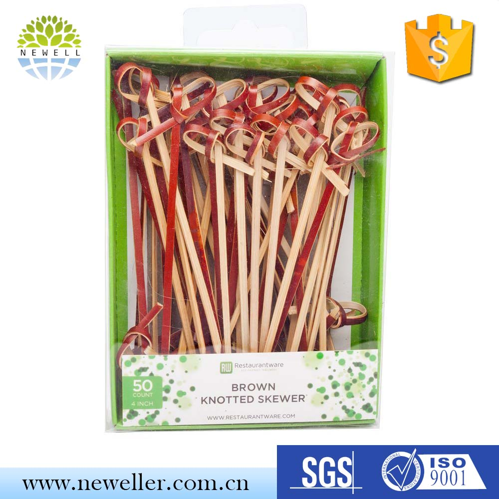 Fashionable discount sale custom size dyed ball pick/stick/skewer with pvc box