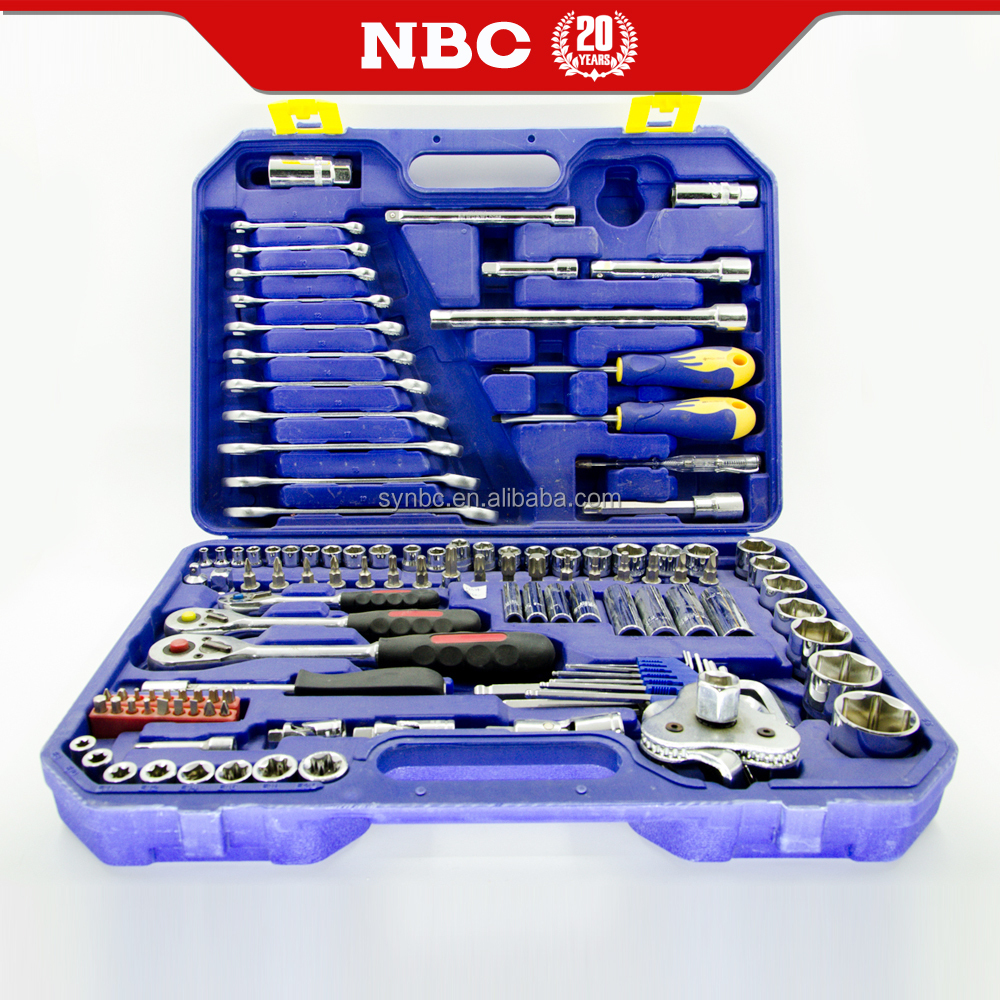 123 pcs Professional Wrench Hand Tools Socket Set Mechanical Tools Set