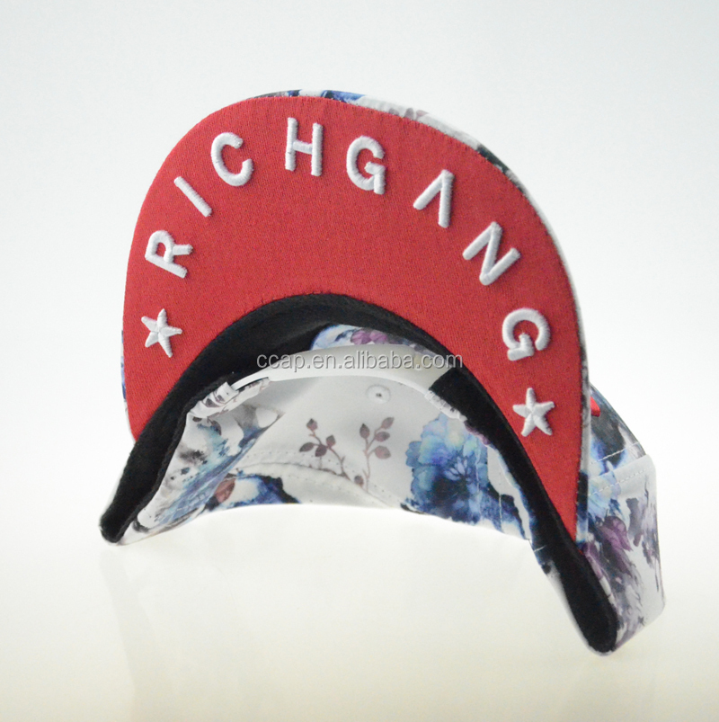 high quality custom 3D embroidered logo Snapback Hats
