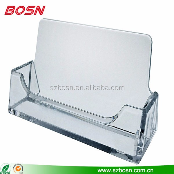 Hot sell acrylic business name sign card plate holder plexiglass note card type display