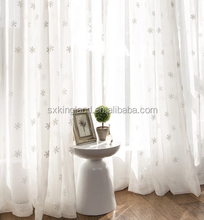 Reflective curtain embroidery sheer curtain luxury curtain fabric