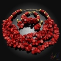 coral beads jewellery set fashion heavy jewelry set good quality bridal jewellery sets