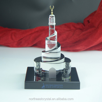 Replica Crystal Qatar Islamic Culture Center Wholesale Islamic Gifts