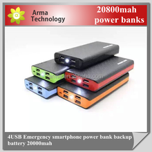 Factory 3usb output 5V emergency anker power bank 20000mah