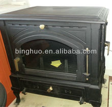 cast iron indoor fireplace with sided door