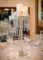 New product tall crystal chandelier flower stand for wedding centerpiece