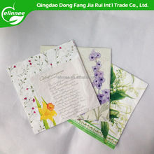1/4 fold pure and fresh style design napkin flower facial tissue paper