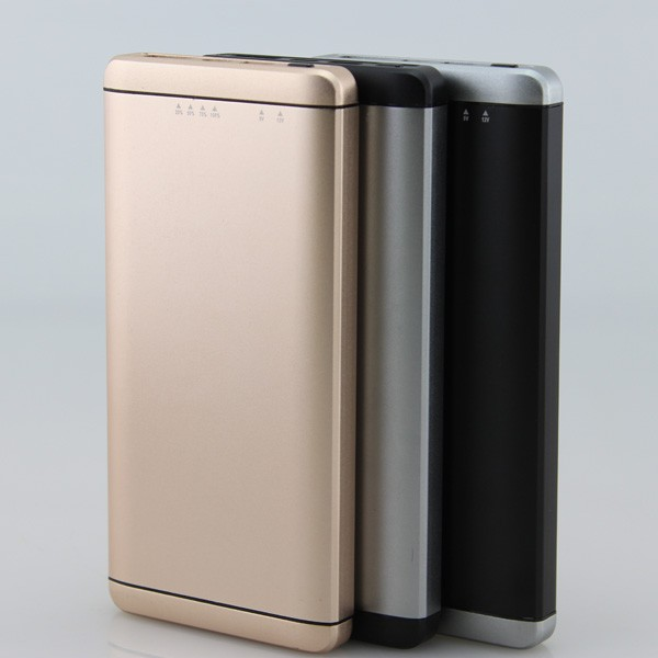 ultra thin with type c quick charge smart identification power bank with 10000mAh