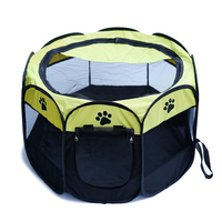 Portable Folding Pet Tent Playpen Dog Cat Exercise Fence Kennel Cage Crate