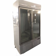 LED Lighting 2 Big Glass Door Commercial Upright Deep Refrigerator Freezer - 23 Cu. Ft. for Restaurant