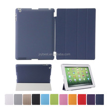 Customized Pu leather Magnetic Smart Cover+Back case for ipad 2 3 4
