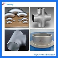 ASME B16.9 Pure Titanium 11 forged pipe fitting reducing tee