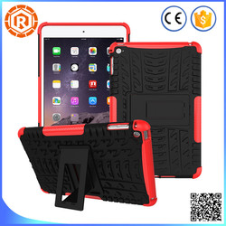 Hybrid shockproof case for iPad mini 2 for iPad mini 3 hard armor stand case for iPad mini