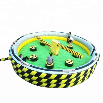 Round Inflatable Wipeout/ Inflatable Meltdown Sale/ Eliminator Game with Controller