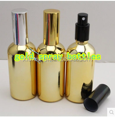 30ml 100ml glass dropper bottles gold silver electroplated with matal childproof cap
