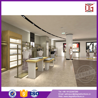 Fashion clothes store decoration clothes shop interior design