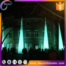 Hot sale LED inflatable aircone/ inflatable pillar/ prism inflatable light tower for decoration