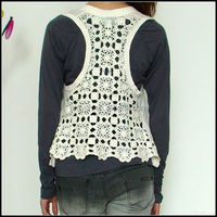 2015 Cotton Shrug Summer Handmade Sleeveless Lady Hand Crochet Cardigans
