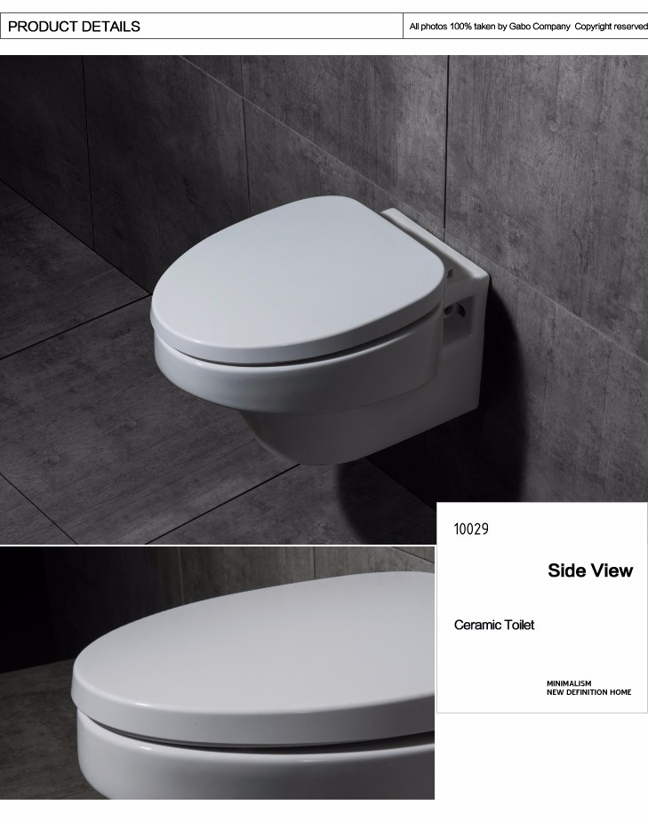 2016 New Arrival Wall Hung Integrated Sanitary Porcelain Toilets