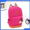 Hot Sale Promotion 2015 Girls Cartoon Cat Ear Backpacks fashion school bag Backpack Kids travel Bags China Factory