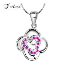 A popular design four leaf clover in Europe 925 sterling silver pendant P30035