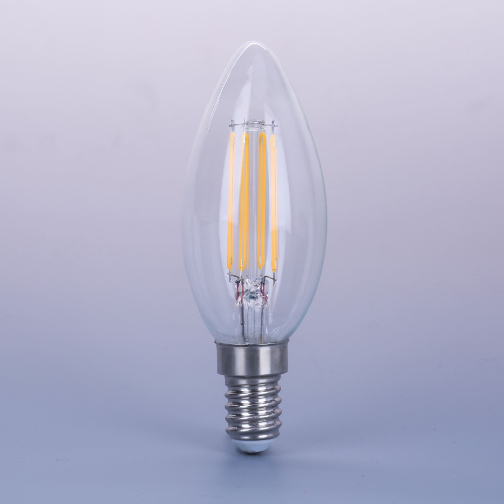 Super Brightness 4W Cob Filament E12 E14 Led Candle Light Bulb