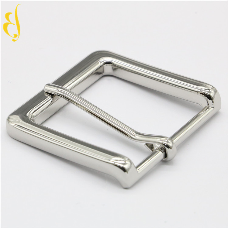 Shiny man belt metal buckle garment accessory custom pin buckles