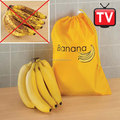 Banana Storage Bag Keeps Fruit Fresh Food Yellow Polyester Drawstring NEW 2-1