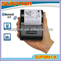 Mini Wireless Bluetooth Printer for application Mobile top-up/order system/delivery system