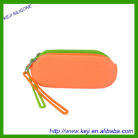 Silicone bag for multi use can be as glasses bag and pencil bag