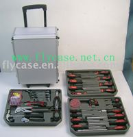 2013 new design TAIWAN style Aluminum tool case with logo print and trolley