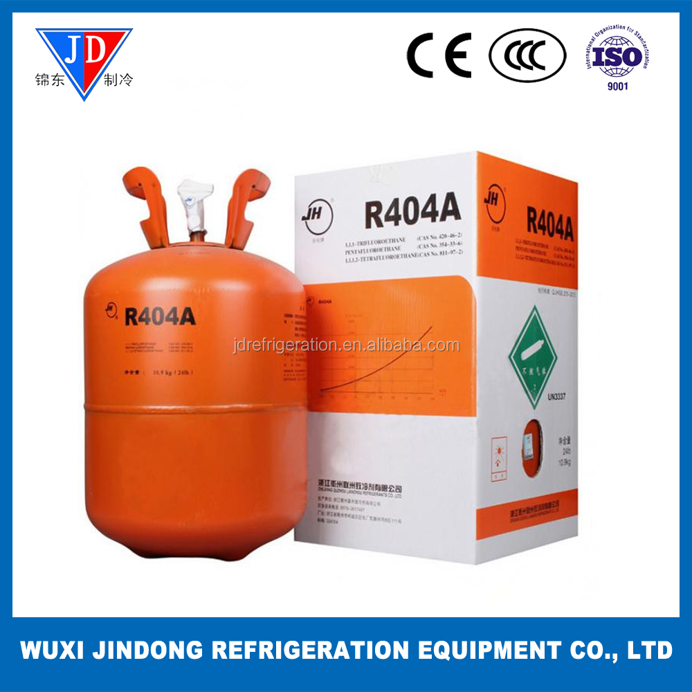 Mixed refrigerant gas R404A, environment friendly refrigerant R404A for air conditioning