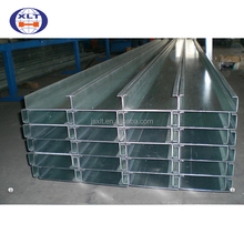 2017 Quality assurance cold rolled unit weight standard thickness of C type purlins sizes philippines price for steel structure