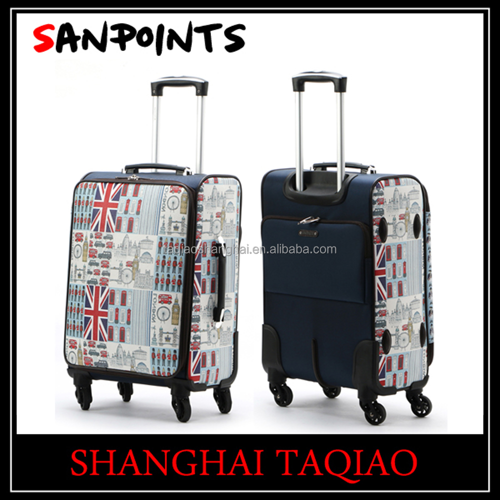 Wholesale Sanpoints new luggage suitcase and makeup case UK flag style