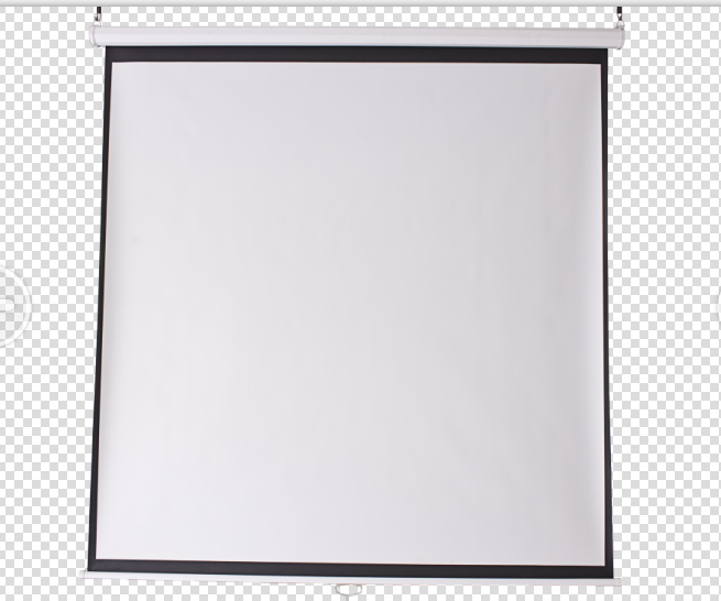 "96""x 96"" manual wall projection screen"