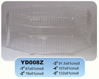 folding metal pet barrier playpen pet enclosure play pen 8 panels