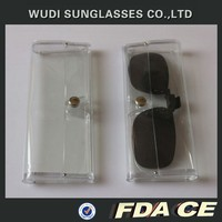 clear solft plastic glasses clip case