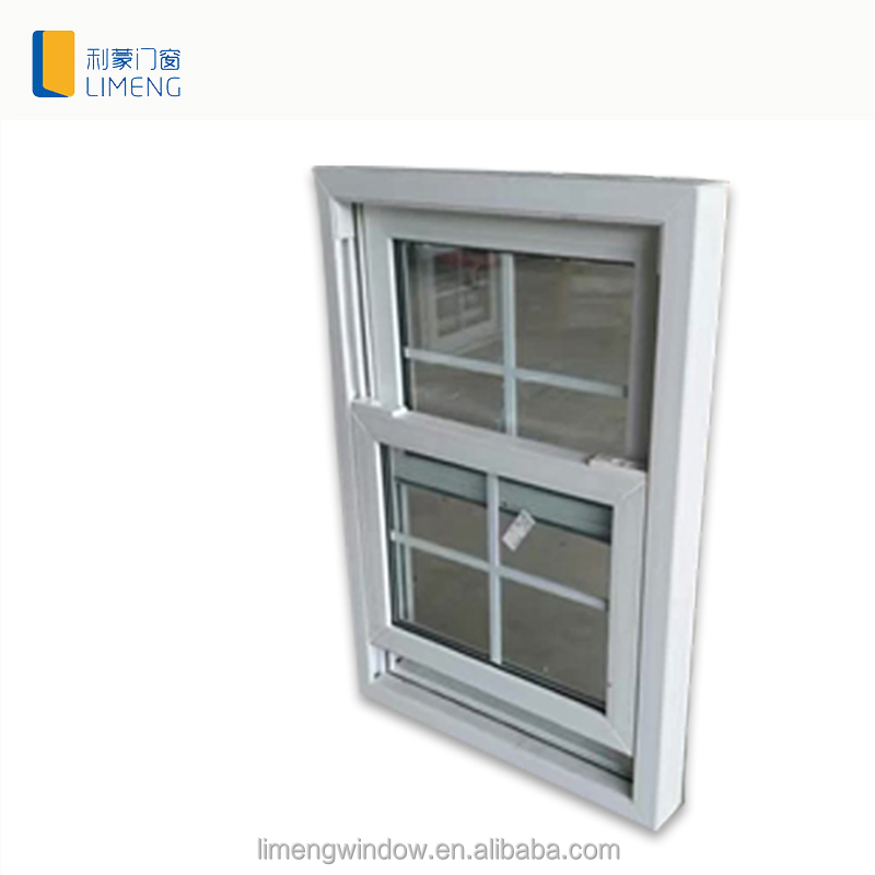 Cheap wood aluminum vertical sliding window by China windows and doors supplier